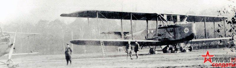 4-х моторный самолет первая мировая Riesenflugzeug R.I.