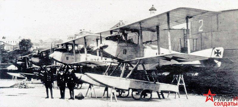 летающие лодки Friedrichshafen FE33L.