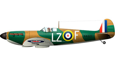Английский Истребитель-перехватчик второй мировой войны Спитфайр