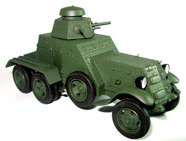 Модель броневика БА-27М