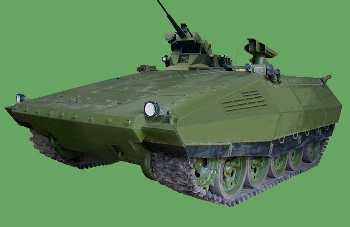 Тяжелая БМП-55 на базе среднего танка Т-55