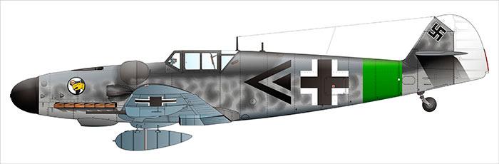 Немецкий истребитель Мессершмитт Bf-109