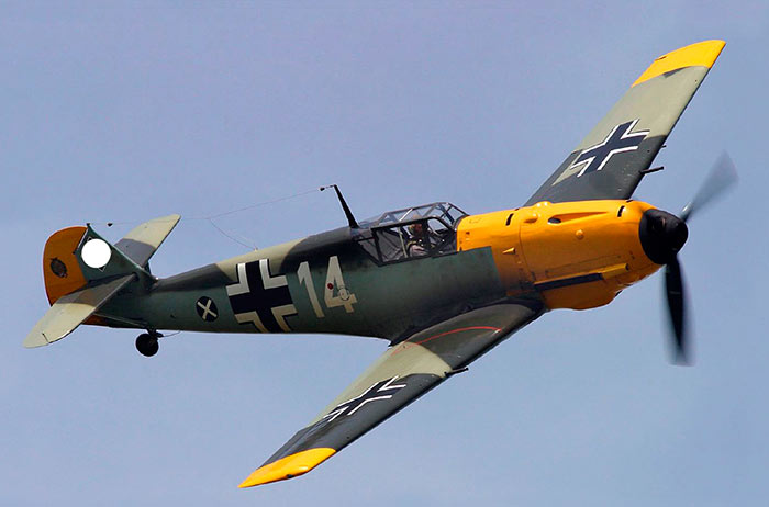 Немецкий истребитель Мессершмитт-109