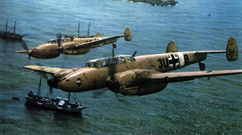 Немецкий тяжелый истребитель Bf-110