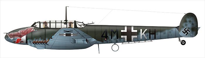 Тяжелый (ночной) немецкий истребитель Bf-110