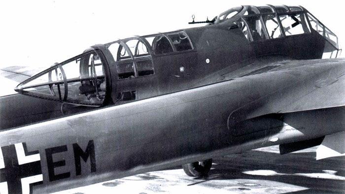Кабина экипажа FW-189, вид сзади