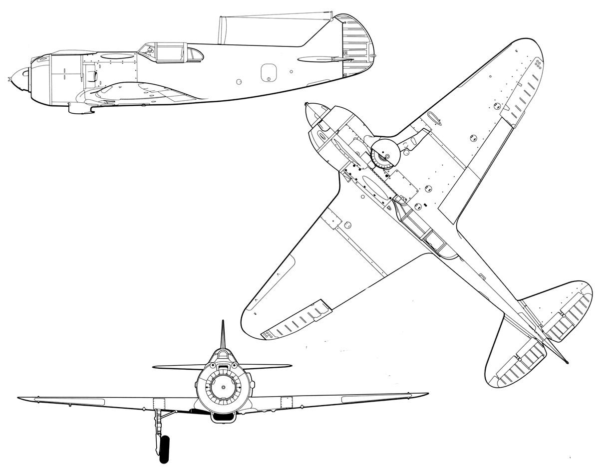 Чертеж истребителя Ла-5