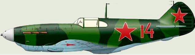 Истребитель ЛаГГ-3 в стандартном летнем камуфляже времен начала войны