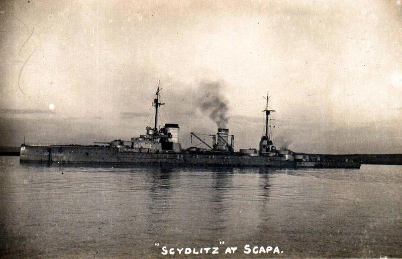 Линейный крейсер Зейдлиц в Скапа-Флоу