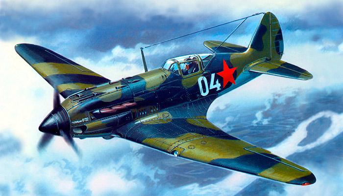 МиГ-3 в стандартной камуфляжной окраске начального периода войны