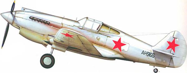 P-40 Томагавк в зимней окраске советских ВВС