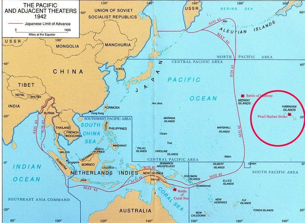 перл-харбор на карте мира