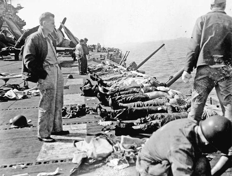 Погибшие от атаки камикадзе на американский корабль