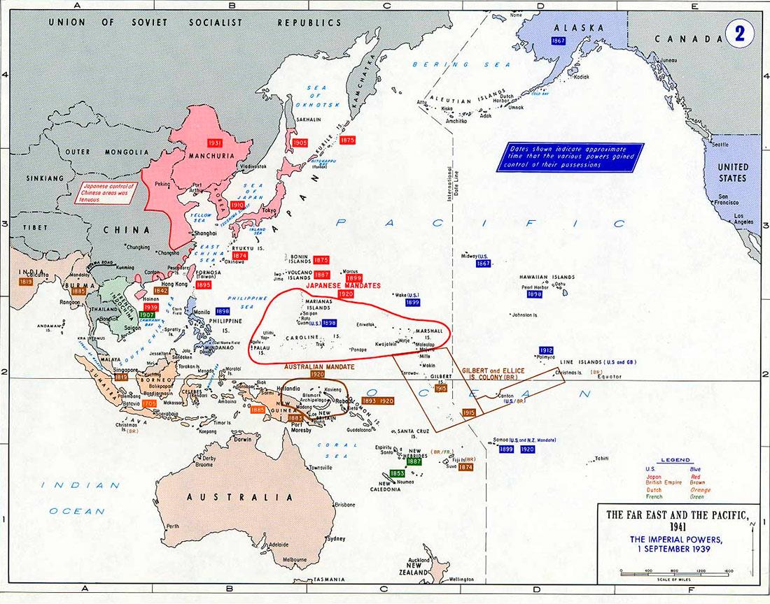 Расширение сферы влияния Японии накануне войны на Тихом океане