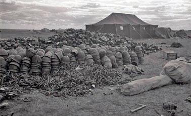 Трофеи советской армии после ряда сражений у р.Халкин-Гол