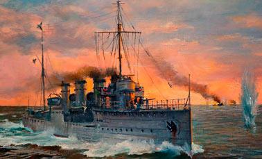 бои эсминца Новик с двумя немецкими эсминцами