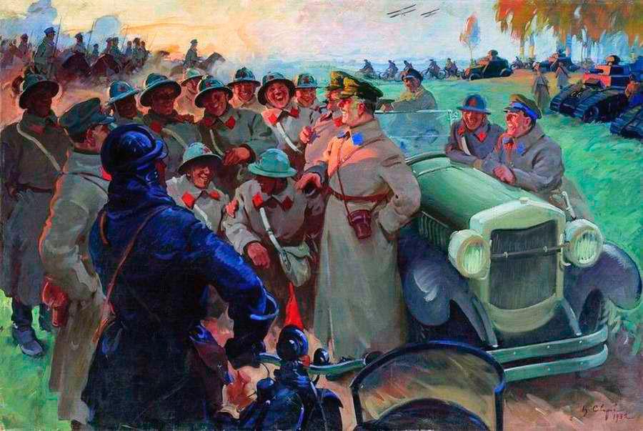 К.-Е.-Ворошилов-на-манёврах---Василий-Сварог-(1932-год)
