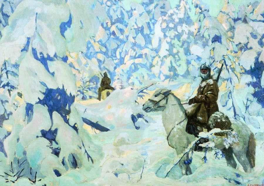 На страже - Аркадий Рылов (1931 год)