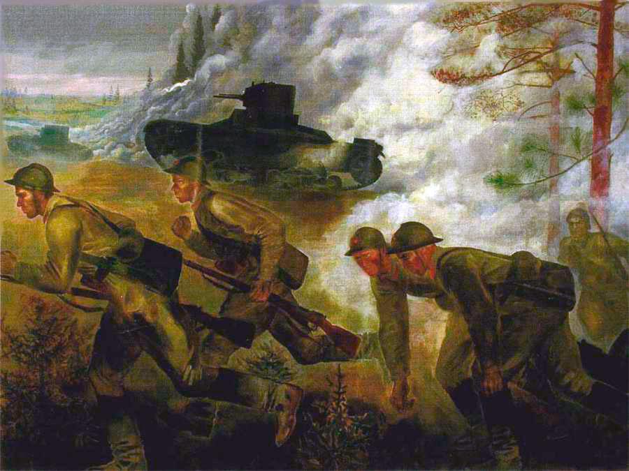 Наступление-танков---Екатерина-Зернова-(1933-год