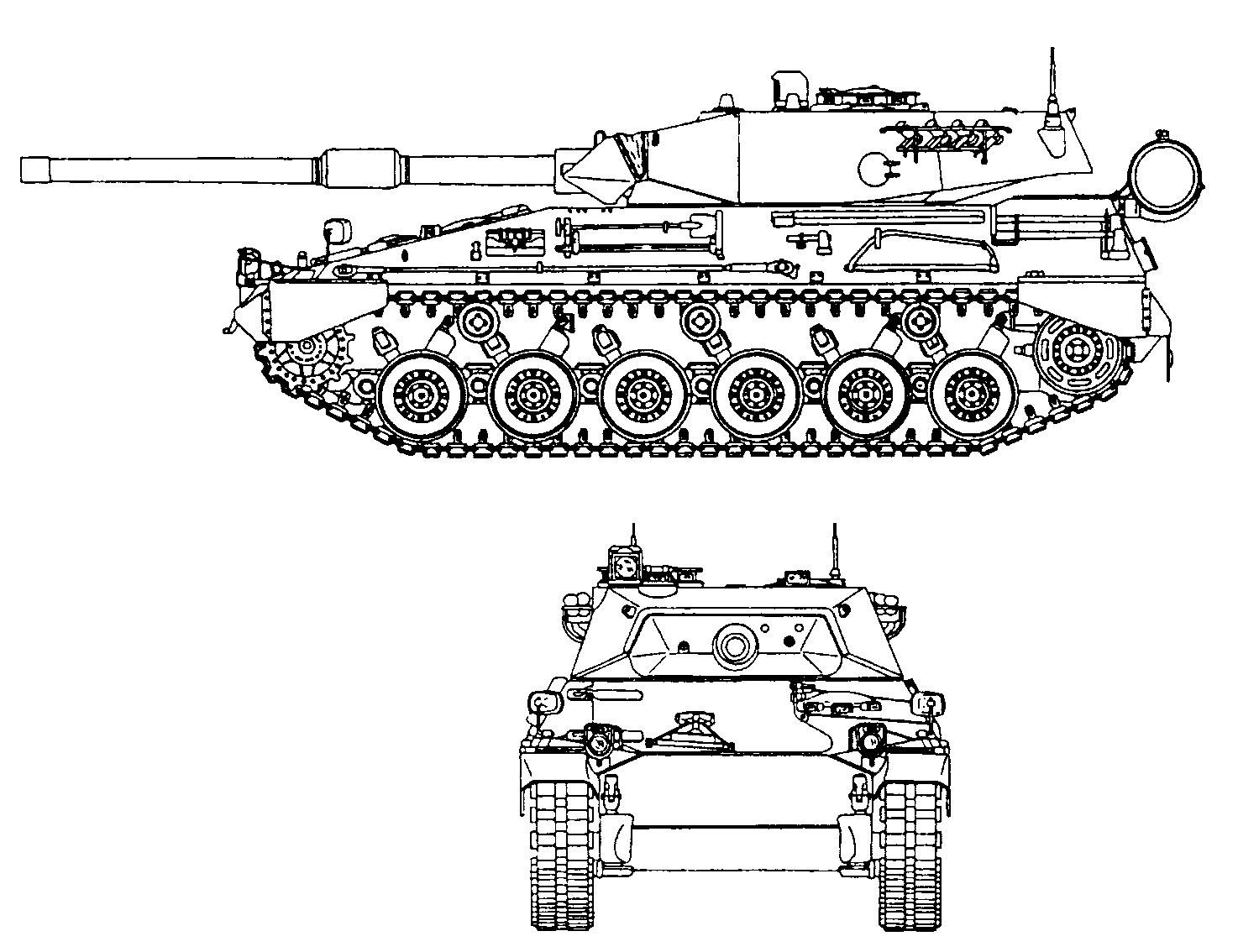 Чертеж аргентинского танка TAM