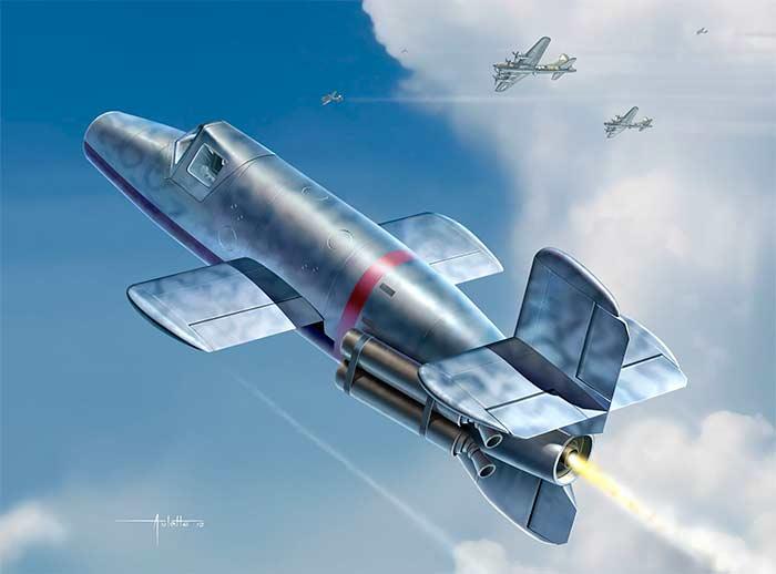 Атака Ba-349 на американские «Летающие крепости»