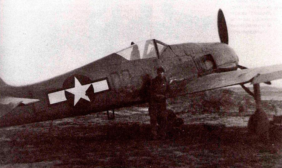 Трофейный FW-190A-6 на испытаниях в США.
