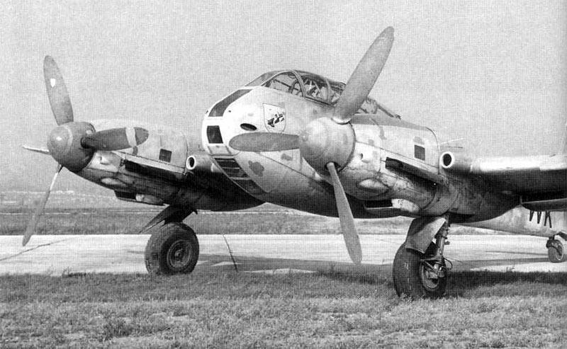 Германский тяжелый Истребитель Мессершмитт Me-210 (Me-410)