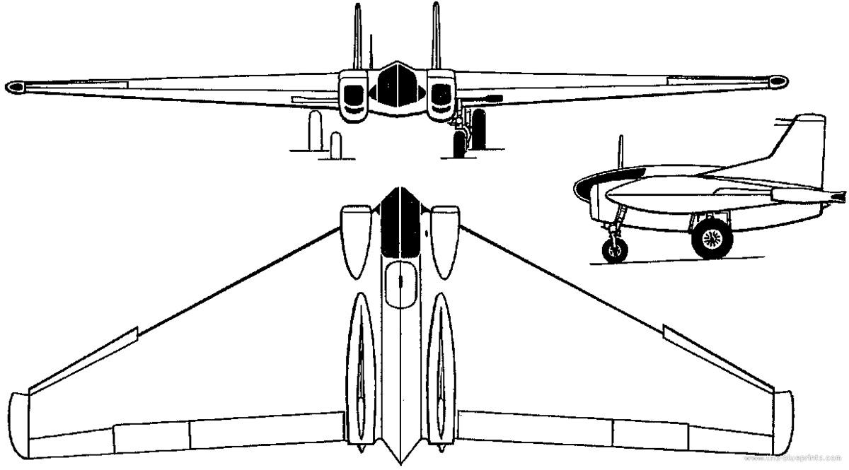 Чертеж таранного истребителя XP-79 «Нортроп»
