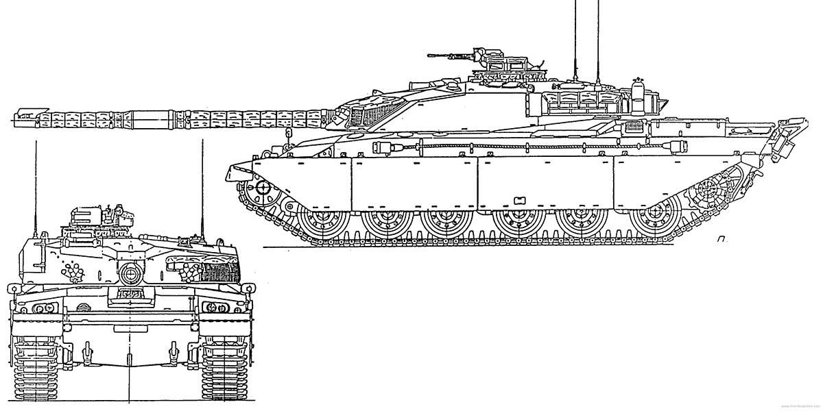 Чертеж танка «Челленджер 2»