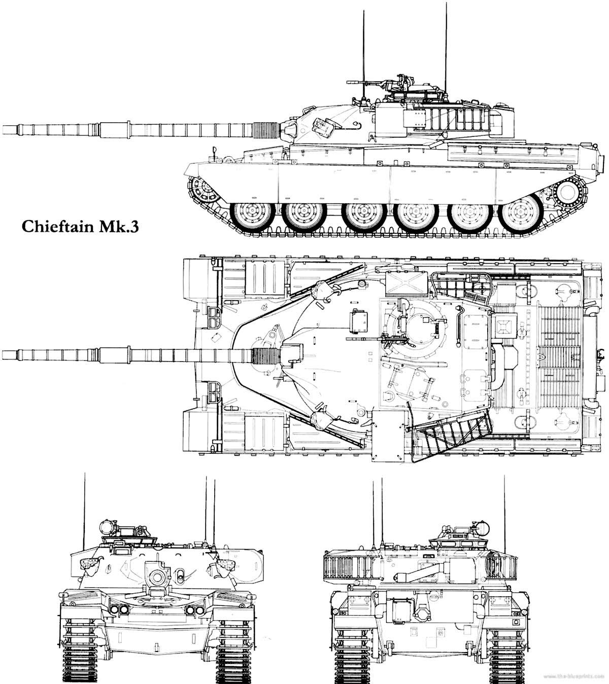 Чертеж танка «Чифтен» Mk 3