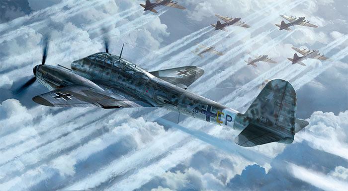 Мессершмитт Me-410 одним своим видом настоящий, «породистый» истребитель