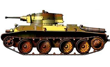 Польский колесно-гусеничный танк 10TP