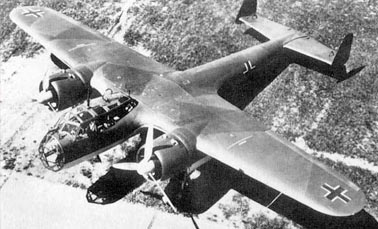 Немецкий бомбардировщик Дорнье 17 (Do.17)