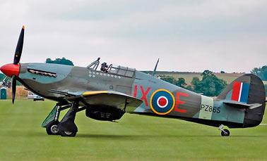 Английский истребитель второй мировой войны Харрикейн