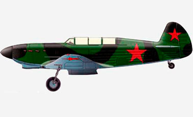 Истребитель Як-7 ОКБ Яковлева