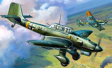 Пикирующий бомбардировщик Юнкерс Ju.87 Штука
