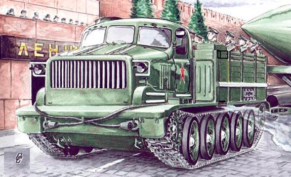 Тяжелый артиллерийский тягач АТ-Т