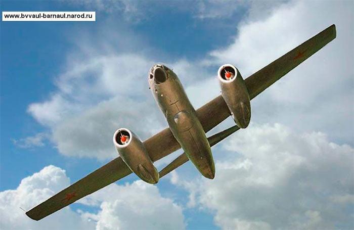 Бомбардировщик Ил-28 в редком ракурсе
