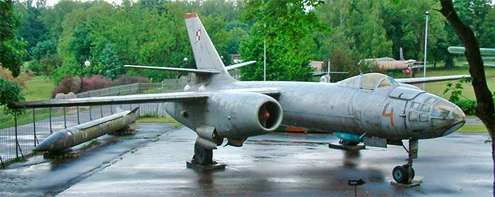 Бомбардировщик Ил-28 польских ВВС