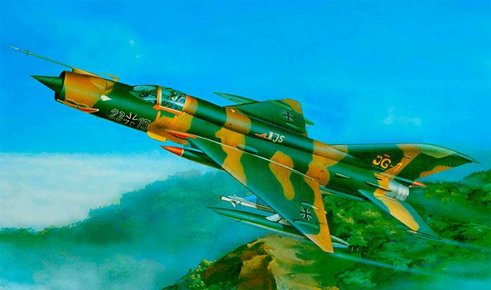 МиГ-21 можно встретить в расцветке и под флагами самых разных стран.