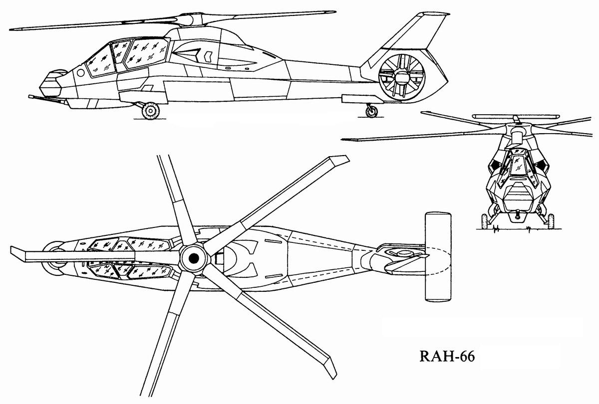 Общая схема вертолета RAH-66 «Comanche»
