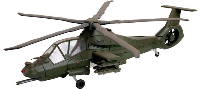 Модель изображает RAH-66 «Comanche» в ударном варианте - обратите внимание на смонтированное дополнительное крыло-подвеску для вооружения