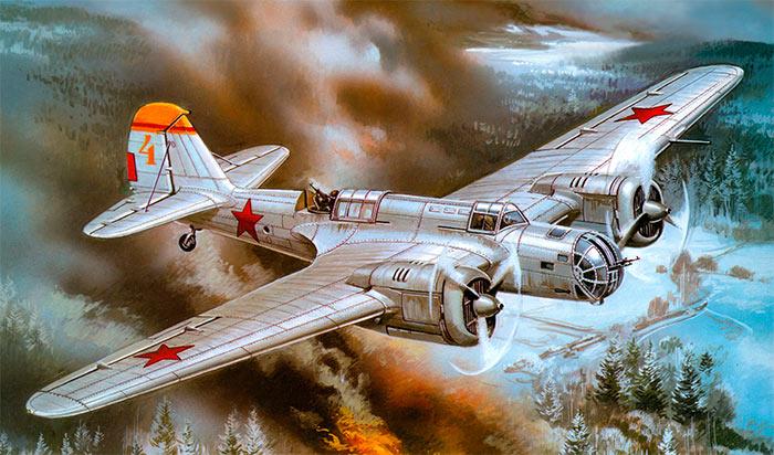 Советский бомбардировщик «СБ» во всей красе