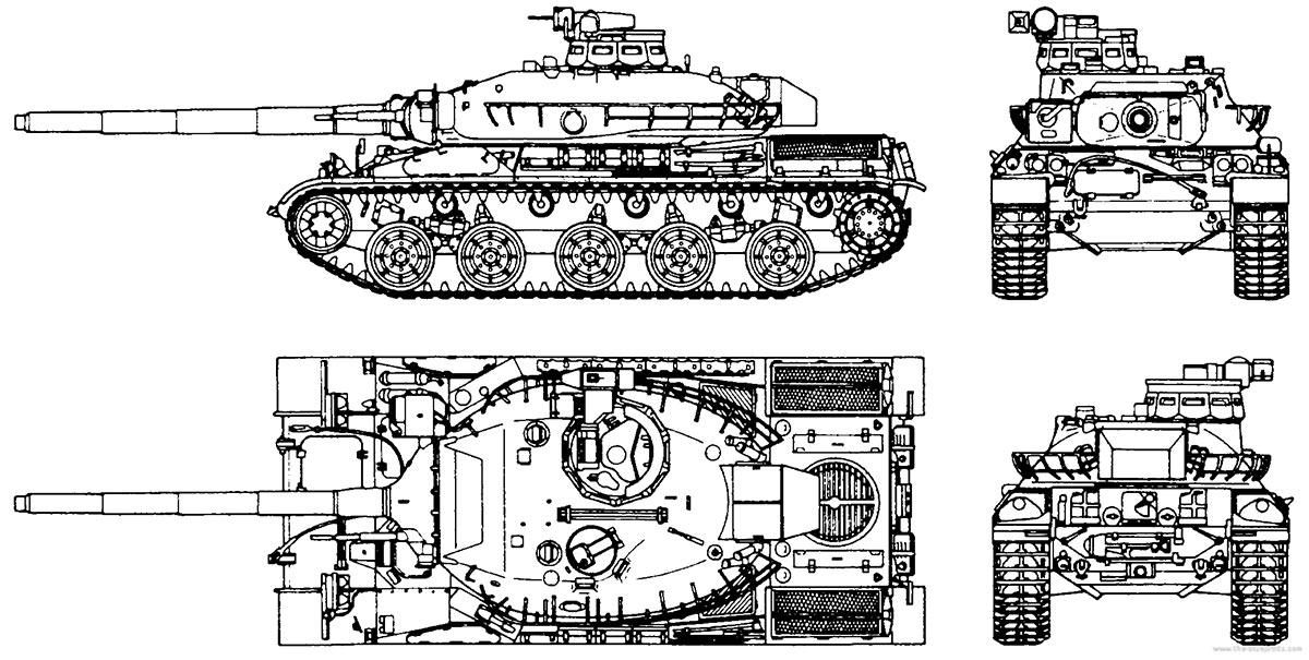 Чертеж французского танка АМХ-30
