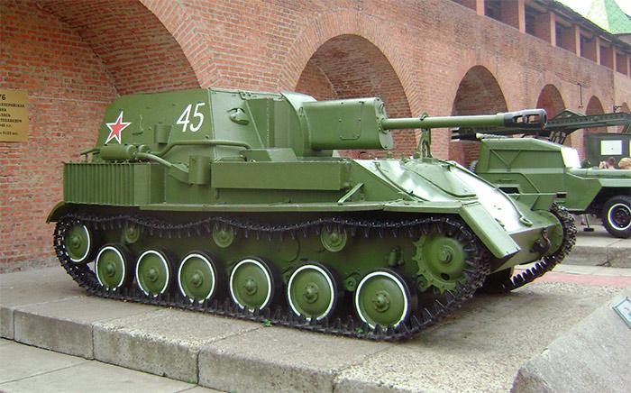 советская самоходная артустановка - СУ-76