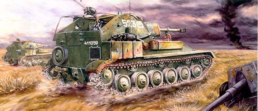 Вид сзади на СУ-76