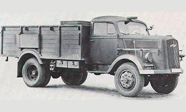 немецкий грузовик Opel-Blitz 3,6-6700A