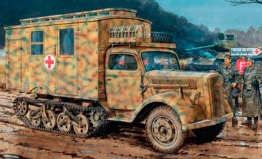 Немецкий полугусеничный грузовик Maultier
