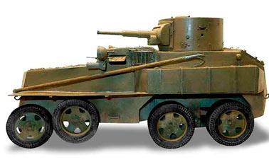 Плавающие бронеавтомобили ПБ-4 и ПБ-7