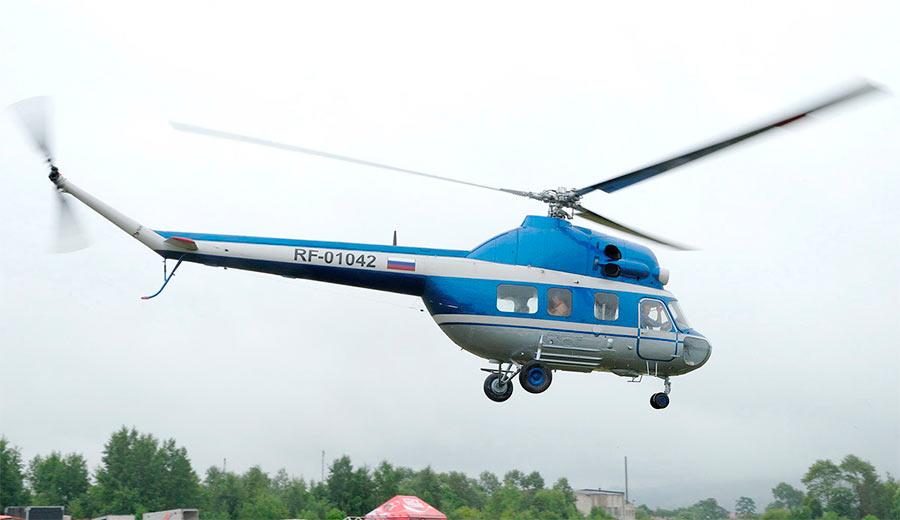 Вертолет Ми-2 отличается очень аккуратной формой фюзеляжа